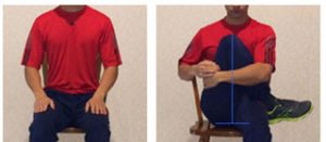 seated leg to chest exercise for piriformis syndrome