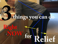 3 things for back pain relief