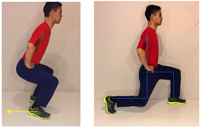 lunge test for back pain