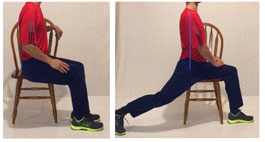 seated lunge for back pain at work